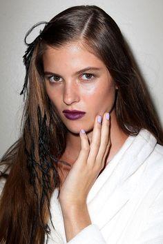 Looks de maquillaje primavera verano 2014 de Oscar de la Renta y Rag and Bone por Gucci Westman directora artistica de Revlon Global
