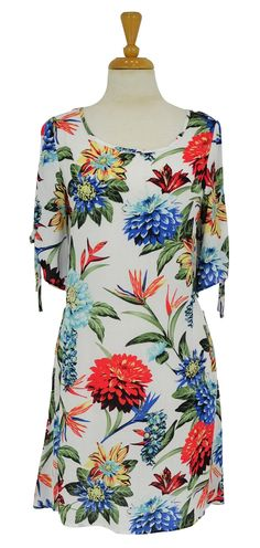 White Jungle Flower Tunic