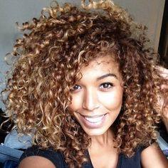 Beautiful curls & color