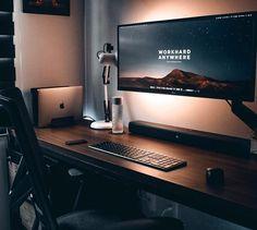 Computer Desk Setup, Gaming Room Setup, Pc Setup, Study Room Design, Game Room Design, Home Office Setup, Home Office Design, Dream Desk, Bedroom Setup