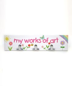 This White 'My Works of Art' Three-Clips Wall Plaque by Concepts is perfect! #zulilyfinds