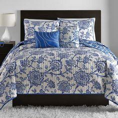 VCNY Jordin 5 Piece Quilt Set Blue