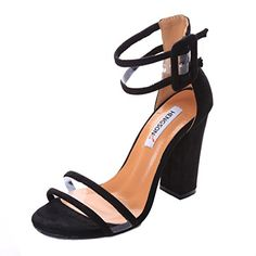 Type: Pumps Lining Material: PU Platform Height: cm Heel Height: Super High cm-up) Closure Type: Buckle Strap Toe Shape: Round Toe Outer sole Material: Rubber Fashion Element: Buckle Transparent High Heel Shoes : Ankle Sandals Fit: Fits true to size High Shoes, Shoes Heels, Party Models, Basket Mode, Pump Types, Thick Heels, Open Toe Sandals, Party Shoes, Toe Shape