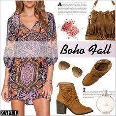 Boho Fall with Zaful by deeyanago on Polyvore featuring moda, Free People, Yves Saint Laurent, Ray-Ban and zaful