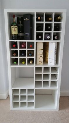 Wine Rack Insert For Ikea Kallax / Expedit Storage Unit Bottle Holder Hack White. Wine Rack Insert For Ikea Kallax / Expedit Storage Unit Bottle Holder Hack White – Sabine van Wij Ikea Wine Rack, Wine Rack Storage, Cube Storage, Diy Storage, Ikea Storage Units, Kitchen Storage, Diy Kallax, Ikea Kallax, Wine Rack Inspiration