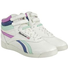Reebok Freestyle Hi Shoes Trainers FS High Fitness Shoes Leather Women White  Reebok Freestyle abea88f0a