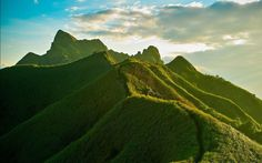 Green Mountains in China.