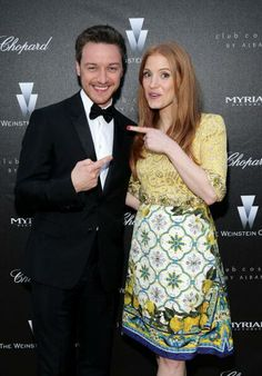 James McAvoy & Jessica Chastain at the Disappearance Of Eleanor Rigby' Pre-Sceening Reception (2014)
