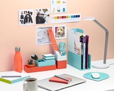 Pink Office Supplies Poppin Home Work space Pinterest