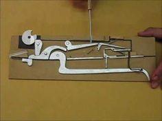 Crossbow mechanism construction Armbrust Mechanik Dreiachser