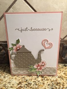 Stampin' Up! My new favorite color combo -- Tip Top Taupe and Blushing Bride!