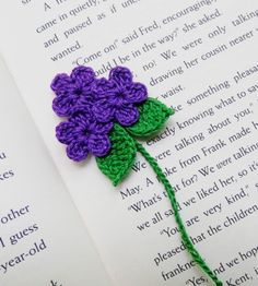 Handmade  Crocheted  Purple  Flowers  by pkladybug on Etsy, $3.99