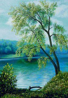 одинокое дерево - Схемы вышивки - lenaknigolub - Авторы - Портал «Вышивка крестом»