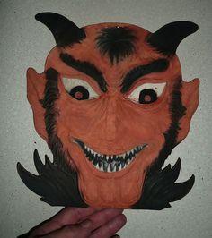 Vintage Halloween Die-Cut ~ Rare Devil made in Germany