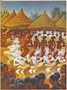 The first book that Covarrubias illustrated for the renowned Limited Editions Club was 'Batouala' by René Maran. This edition of 'Batouala' was published in 1932.    The tom-toms, shouts, chants, balafons, and koundes drowned everything in their sonorous flood.