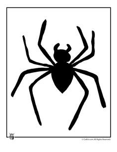 printable halloween templates spider halloween template craft jr - Halloween Spiders