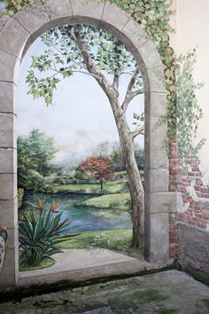 1000 images about trompe l 39 oeil and other murals on pinterest murals wall murals and tree. Black Bedroom Furniture Sets. Home Design Ideas