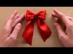 Schleife binden zum Geschenke verpacken für Weihnachten. DIY Geschenkschleife zum einpacken basteln - YouTube