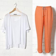 Elk   Söve Pyjama Set in White and Sunset   SÖMN   Collections