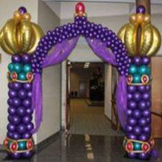 Nights themed Balloon Entry Arch: Balloonopolis - - -Arabian Nights themed Balloon Entry Arch: Balloonopolis - - - Entrance from an Arabian Nights Birthday Party on Kara's Party Ideas Festa Tema Arabian Nights, Arabian Nights Prom, Arabian Party, Arabian Nights Theme Party, Arabian Theme, Aladdin Birthday Party, Aladdin Party, Birthday Party Themes, Aladdin Wedding
