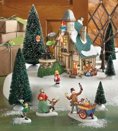 """Department 56 Dickens' Village Series """"Holiday Special Set 2013"""" www.department56.com shop.department56.com"""