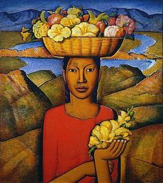 "Alfredo Ramos Martinez (1871 - 1946) ""Vendedora de Flores""... ~D~"