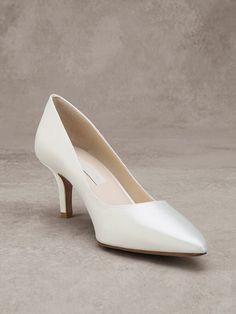 EMILIE - Zapato de novia de tipo salón en raso