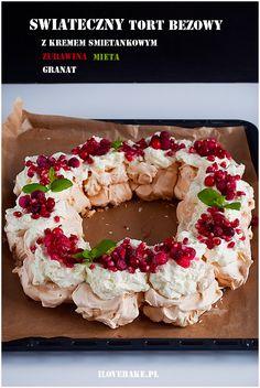 Świąteczny tort bezowy #christmas #pavlova #meringue