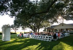 Beautiful October Wedding Day on the Canopied Oak Lawn at Bauer Ranch