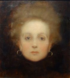 """""""Portrait of Young Girl's Face,"""" c.1898 -- by Gustav Klimt. Permanent loan from a private collection. © Belvedere, Vienna."""