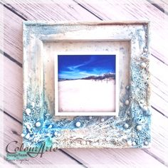 Seashore… – wooden frame by Kasia | ColourArte Blog