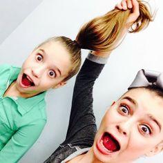 2 beautiful brown eyed dancers!;) #dancemoms