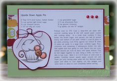 "Recipe card using digi stamp ""Chef Cocoa"" (Sweet n Sassy Stamps)"