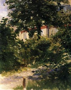 artist-manet: A Corner of the Garden in Rueil via Edouard...