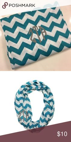 Zeta Tau Alpha Infinity Scarf Perfect for the ZTA in your life! Originally purchased on Crown and Co. and worn twice. Accessories Scarves & Wraps