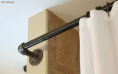 How to create DIY industrial pipe shower curtain rods
