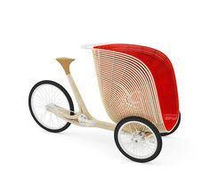 Una delle ultime creazioni dei designer francesiFritsch + Durisotti é questo concept di veicolo a tre ruote realizzato in legno di bambou laminato, destinato a piccoli spostamenti e che può trasportare fino a due bambini piccoli e materiali anche ingombranti....
