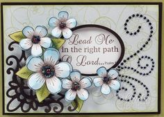 Heartfelt Creations | Lg. Blue Posy Patch Cluster Card