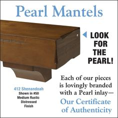 Pearl Mantels Shenandoah Rustic Wood Fireplace Mantel Shelf in Medium Distressed Finish - The Noble Flame