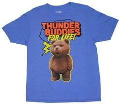 Amazon.co.jp: 18268 映画 テッド Tシャツ Ted Is My Thunder Buddy コメディ ハングオーバー 並行輸入: 服&ファッション小物