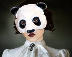 Browse unique items from RheaMasks on Etsy, a global marketplace of handmade, vintage and creative goods. Paper Mache Mask, Paper Mache Animals, Half Mask, Masquerade, Halloween Face Makeup, Scouts, Creative, Panda, Masks