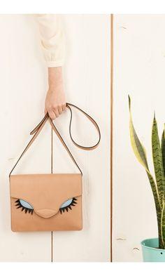 Bag with eyelashes