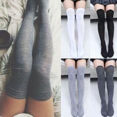 High Socks Outfits, Cute Outfits, Knee High Socks Outfit, Over Knee Socks, White Knee High Socks, Girls Socks, Women Socks, Bas Sexy, Sexy Socks