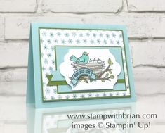 Flying By, Sweet Home, Stampin' Up!, Brian King, new baby card, new home card