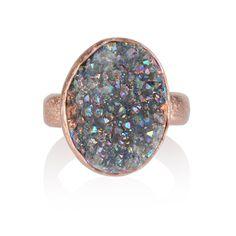 Ring groene steen glitter, ringen