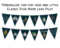 PERSONALIZED BANNER  Printable Party Banner and by BashandDash
