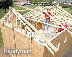 Framing a Garage: Set the rest. Get the plans: http://www.familyhandyman.com/garage/framing-a-garage/view-all