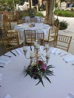 Williams Sonoma centerpieces for a secret garden wedding