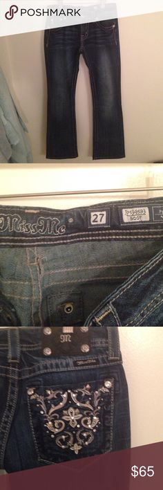 Miss Me bootcut jeans Miss Me bootcut jeans. Size 27. No tags, worn one time. Miss Me Jeans Flare & Wide Leg