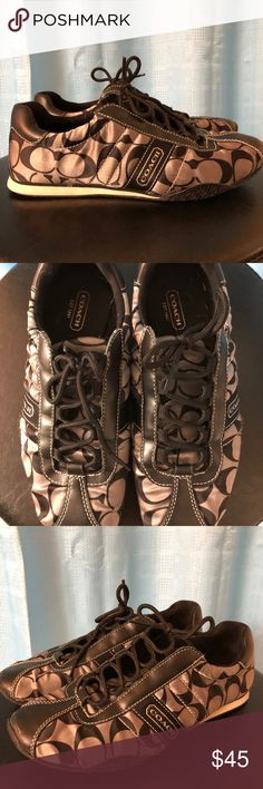 Coach Shoes Coach   Size 7 Got in a trade with another posher don't  fit like I wanted  IGUC   Trades or Offers Accepted Coach Shoes Sneakers